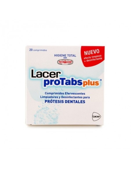LACER PROTABS PLUS DESINFECTA PRÓTESIS DENTAL 20COMP