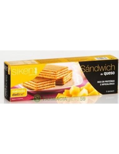 SIKEN DIET SANDWICH QUESO 6 UDS
