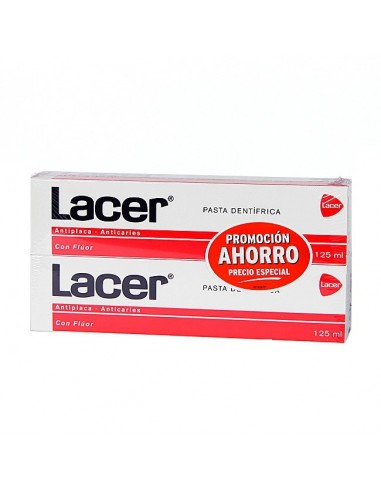 LACER NORMAL PASTA ROJA 125 ML DUPLO